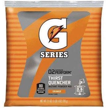 Gatorade Thirst Quencher Powder, Orange, 21oz - 32 pouches. by Gatorade