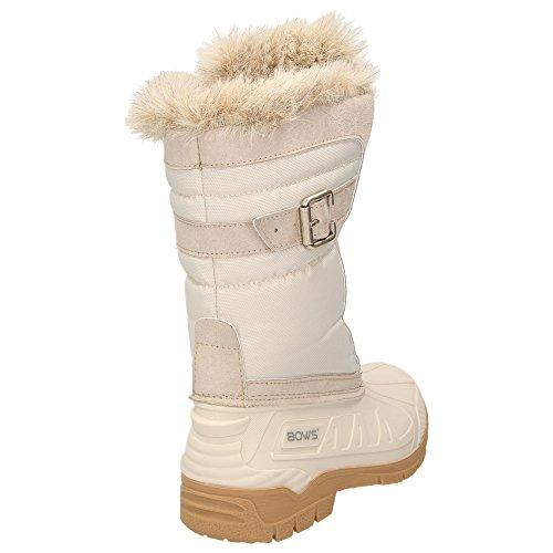 Susi Wasserabweisend BOWS Warm Stiefel Schnee Gefüttert Winterboots Wasserdicht Snow Damen Winterstiefel Schuhe aZwxZP