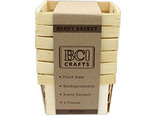 BCI Crafts Berry Baskets Wood Small 6pc for sale  Delivered anywhere in USA