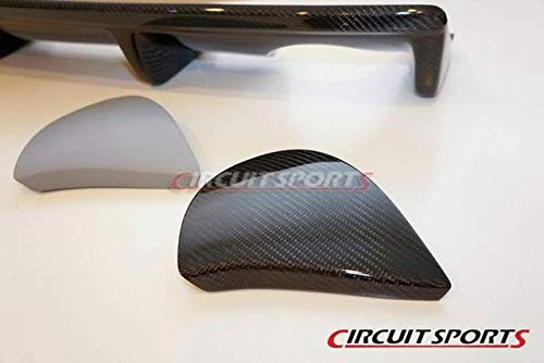 - Circuit Sports Carbon Rear Bumper Diffuser Exhaust Cap for Nissan 350Z Z33