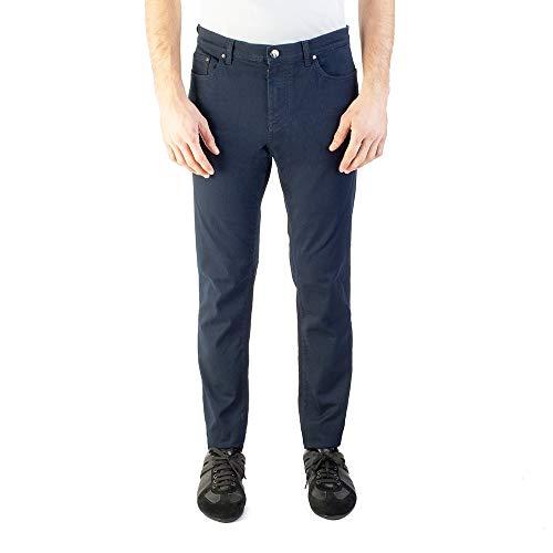 (Versace Collection Men's Slim Fit Jean Pants Navy/Black)