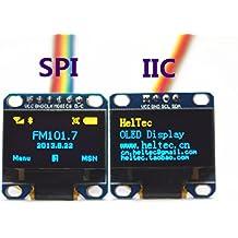 Heltec Automation 0.96inch I2C IIC&SPI Oled Module Yellow-Blue12864 /3.3V-5V for Arduino 51 MSP420 STIM32 SCR(1PCS SPI &1PCS IIC In Packae)