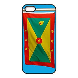 iPhone 5 5s Cell Phone Case Black Grenada Flag 001 OQ7685614