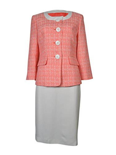 Jewel Neck Skirt Suit - 1