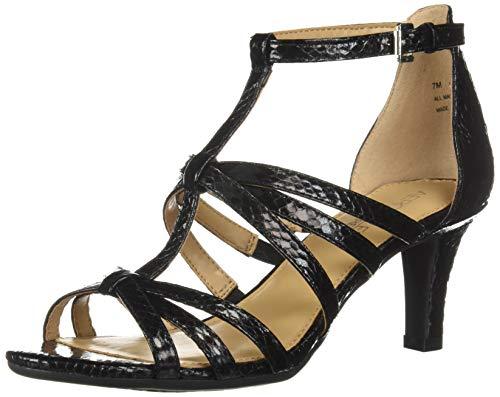 SSIONFRUIT Heeled Sandal, Black Snake, 8.5 M US ()