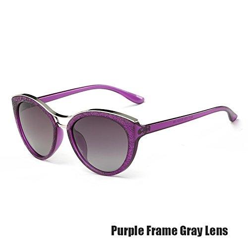 Para Ojo Gafas Vintage Gris TIANLIANG04 Gray Las Azul Purple De Mujeres De Gafas Polarizadas Gato wzq4qXE8