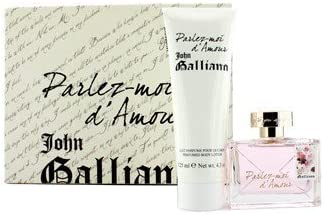 John Galliano – Parlez-Moi d Amour estuche: Eau de Toilette Spray 50 ml/1.7oz + Perfumed Body Lotion 125 ml/4.2oz 2pcs – Mujer Perfume: Amazon.es: Salud y cuidado personal