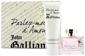 John Galliano – Parlez-Moi d Amour estuche: Eau de Toilette Spray 50 ml/1.7oz + Perfumed Body Lotion 125 ml/4.2oz 2pcs – Mujer Perfume: Amazon.es: Salud y cuidado personal