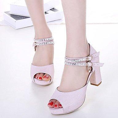 RUGAI-UE Moda de Verano Mujer sandalias casuales zapatos de tacones PU Confort,verde,US6.5-7 / UE37 / UK4,5-5 / CN37 Blushing Pink
