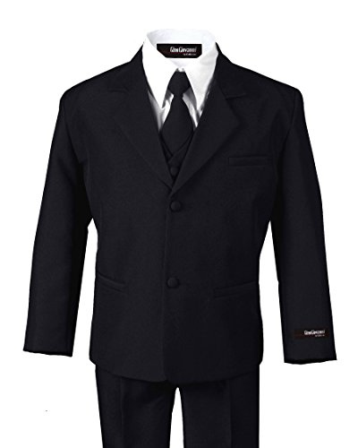 Formal Boys Suit From Baby to Teen (7, Black) by US Fairytailes