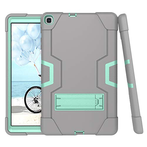 Torubia Case Compatible with Samsung Galaxy Tab S5e 10.5 inch SM-T720 SM-T725 Case, Slim Drop Protection Cover, Backcase Back - Grey+Mint Green
