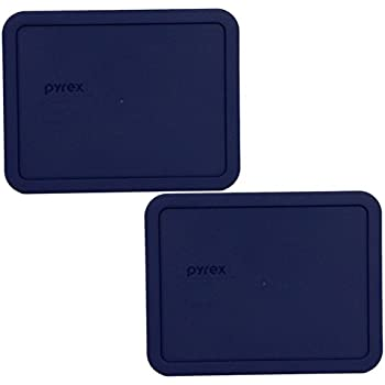 PYREX Blue 6-cup RECTANGULAR Plastic Cover 7211-PC (2 Pack)