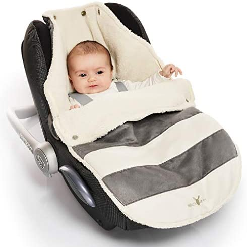 Hearts Grey Soft Universal Cosy Toes Footmuff 85 cm Fits Car Seat Buggy Pram Pushchair