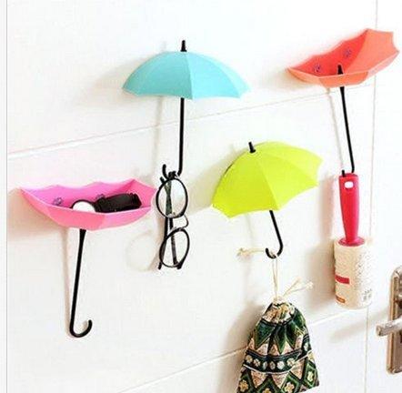 3 x diseño de paraguas de pared ganchos clave Hanger ...