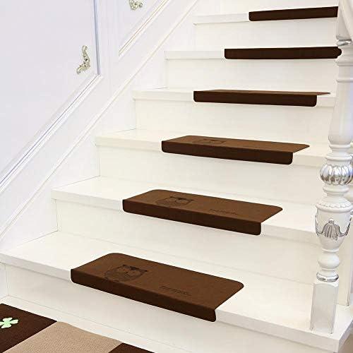 Cinco conjuntos de colchón para escalera, alfombra con pedal en poliéster con búho en poliéster, protège-escalier interior antideslizante, alfombra moderna para escalera, escalera con piso rígida: Amazon.es: Hogar