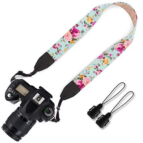 Elvam Camera Neck Shoulder Strap Belt for Men/Women Compatible with Universal DSLR/SLR/Digital Camera/Instant Camera/Nikon Canon Sony Pentax Fujifilm ETC, Flower Floral 04