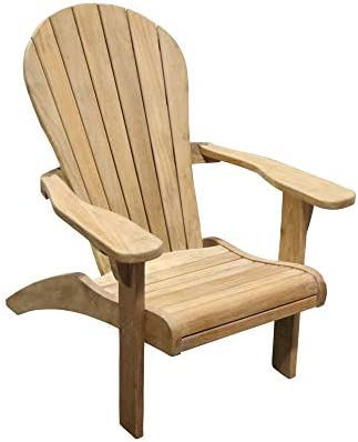 TITAN GREAT OUTDOORS Grade A Teak Adirondack Chair Indoor Outdoor Patio Solid Wood