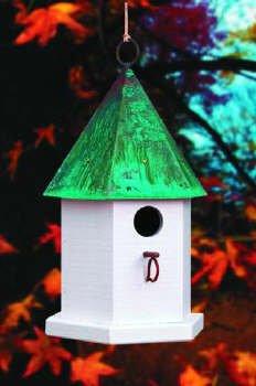 Heartwood Copper Songbird Deluxe Bird Houses-2 Colors