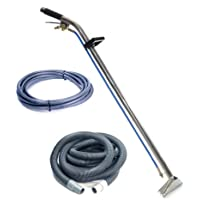 Sandia 80-8009-A Stainless Steel Single Jet 12 Single Bend Wand with 15 Vacuum and Solution Hoses