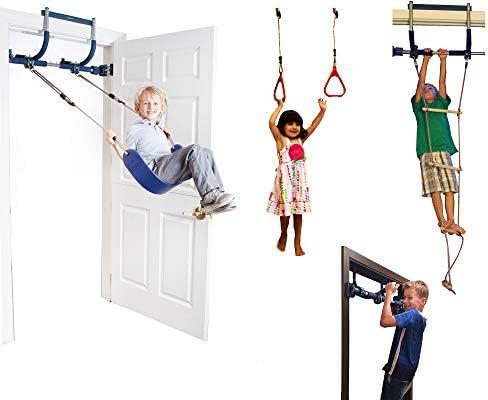 Gorilla Gym Escalera de agilidad con columpios interiores y anillos de plástico para infantiles: Amazon.es: Juguetes y juegos