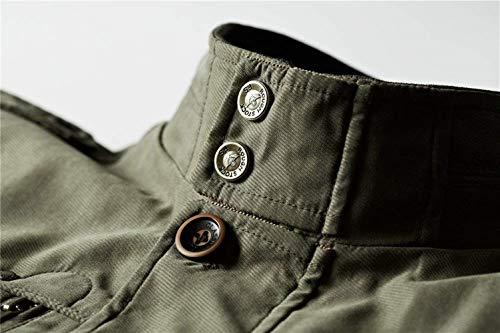 Uomo Giacche Braun Autunno Multi Ntel Abbigliamento Da Cappotto All'aperto Colletto Stand Capispalla Cotone Di Top Qualità Mens Tasche Alta xUPqwUZfYA