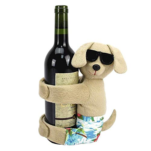 Weelongha Celebrate Summer Together Dog Wine Bottle Hugger Cute Friend Gift Party Figurine Puppy Pug Canine