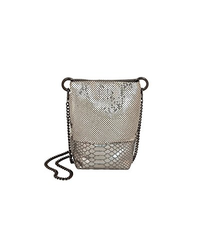 Bag Bucket Davis amp; Trimmed Leather Pewter Whiting qXwp1Tq