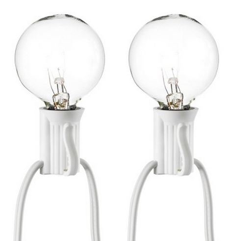 Room Essentials 25ct Clear Globe Lights, White (Clear Globe String Lights)