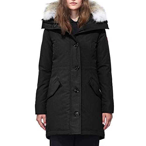 Women's Canada Rosclair Winter Duck Down Parka Black Outdoor Coat-(XXL)