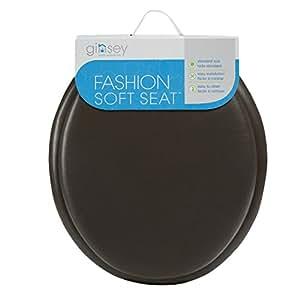 Ginsey suave asiento para inodoro vinilo chocolate for Amazon inodoros