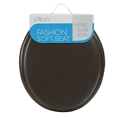 Vinyl Toilet Seat - Ginsey Standard Soft Toilet Seat with Plastic HInges, Chocolate