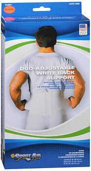 Sport Aid Duo-Adjustable White Back Support XL - each, Pack of 5 by SportAid
