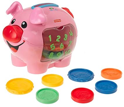 Fisher Price New Primary Kids Educational Toys Toddler Fun Learning Piggy Bank