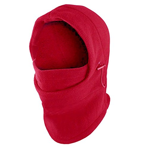 Fleece Windproof Ski Face Mask Balaclavas Hood by Super Z Outlet (Red),One Size
