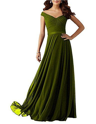 Bridesmaid Long 2017 Shoulder Litchen Z21 The Plum Udresses Neckline Dress Off with Chiffon RIdwS5q