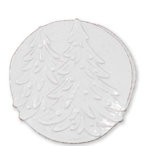 Vietri Lastra Winterland Round Platter