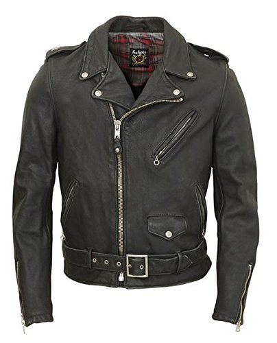 Schott Vintaged Lightweight Waxy Cowhide Fitted Motorcycle Jacket