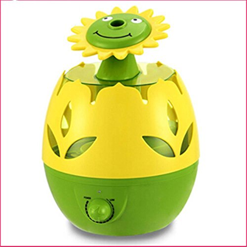 Air Humidifier USB Aroma Flower Large Capacity Mute Air Conditioning Home Office , sunflower (Conditioning Sunflower)