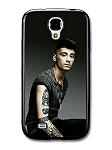Zayn Malik Black T-Shirt 1D One Direction case for Samsung Galaxy S4 A1791 by ruishername