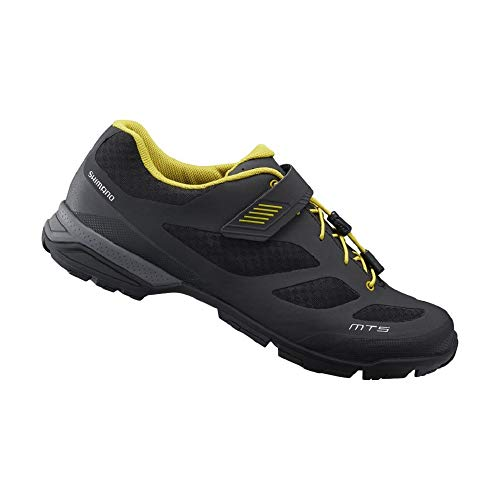 SHIMANO SH-MT501 LSG Series Multi-use; Touring; Casual MTB Bicycle Shoes; Black; 46 (Best Bicycle Touring Shoes)