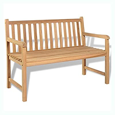 "K&A Company Garden Bench 47.2"" Teak"