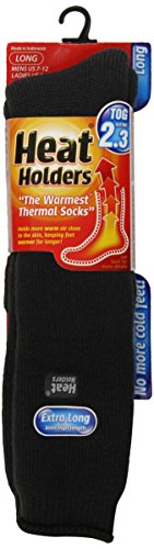 Heat Holders Mens Extra Long Charcoal, US Shoe Size 7-12, 1-Pair
