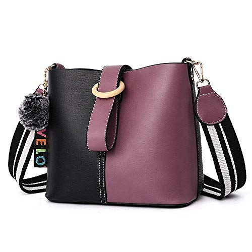 2f204fb930f Púrpura Amarillo Simple color Tamaño Pu Bolso De Moda Shoulder Messenger  Basura Roja Eeayyygch Bag Wild x6A7wB