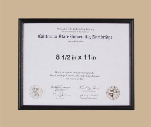8.5x11 Basic Black Certificate or License Frame - Wood - 3-pack by Endearing Frames (Image #4)