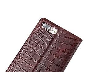 d6c48803559d Amazon   【Mobile beauty】iphone7 plus ケースクロコダイル ワニ柄 鰐紋 クロコ人気 財布 メンズ 長財布 携帯  ケース アイフォン 7プラス ケース スマートフォン ...