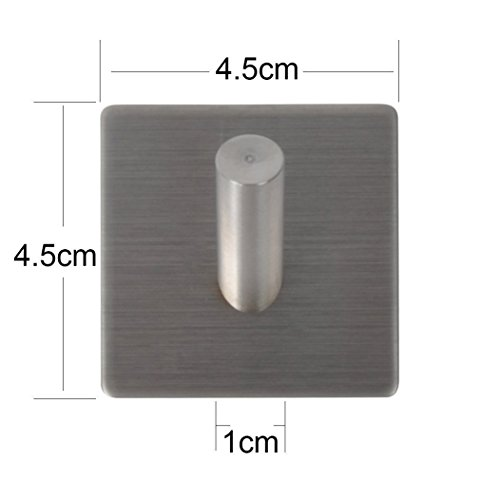 3m self adhesive coat hooks agile shop heavy duty 304 stainless steel decorative sticky wall. Black Bedroom Furniture Sets. Home Design Ideas