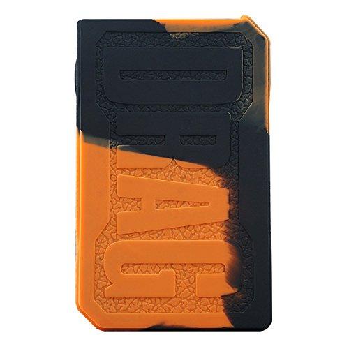 DSC-Mart Texture Case for VOOPOO Drag 157W, Silicone Skin Cover Rubber  Sleeve Wrap Fits Drag 157 Watt Mod (Blackorange)
