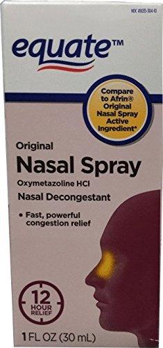 Equate Original Nasal Spray, Oxymetazoline Hydrochloride, 1oz, Compare to Afrin Original