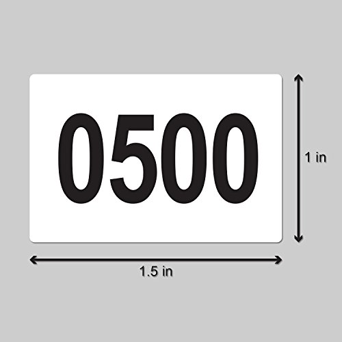 Consecutive Number Labels Self Adhesive Stickers