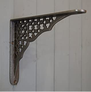 style transitional coat shelf cast iron side bracket brackets black traditional powder